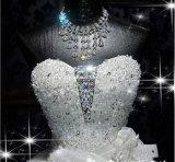 2017贅沢な水晶のビーズの夜会服のウェディングドレス(夢100075)