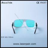 600-700nmルビー色のレーザーの安全ガラス/のために使用できる保護Eyewearの調節可能なフレーム赤い36 -: 635nm、650nm、694nm等