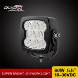 la luz LED del trabajo del carro 80W enciende la lámpara del ahorro de la energía del coche 12V