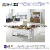 Офисная мебель роскошного стола управленческого офиса PU кожаный самомоднейшая (L3601#)