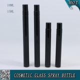 5ml 10ml 15ml Shinny Color Negro Frascos de vidrio Frascos de spray para perfume con rociador de niebla