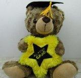 Oso relleno felpa del graduado de la graduación