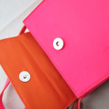 Saco brilhante do mensageiro do plutônio da cor-de-rosa da promoção