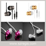 3.5Mm Nickel-Plated Turbo Bass Universal de metal MP3 auriculares auriculares con cable