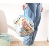 PE Hot Sale Star-Sealed High Strength Drawstring Garbage Bag