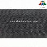 4cm黒いポリエステルシートベルトのウェビング