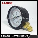 calibrador de presión inferior de acero del vacío del negro de la fábrica de 63m m
