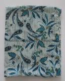 Classic Pailsey imprimé de polyester Infinity foulard avec liseré Construction (HWBPS093)