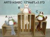 Perro de la Navidad largo Legged regalo de la decoración, -3 Asistente