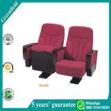 Silla roja de lujo cómoda moderna de Pasillo del cine del asiento del cine de la tela de China