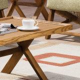 거실 B02-5를 위한 작은 코너 테이블 접의자 탁자 단단한 나무 테이블