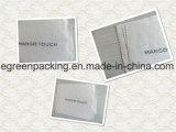 Beige Farbe Microfiber Tuch mit schwarzem Firmenzeichen-Druck