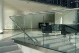 층계를 위한 공급자 유리제 난간을 가로장으로 막는 중국 층계