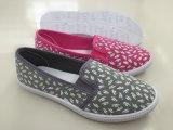 最新のデザイン女性の注入のズック靴の余暇の靴(FZL712-21)