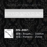 Corona decorativa del dentículo del poliuretano que moldea la cornisa Hn-8061 de la PU