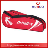 A raquete de Badminton da forma ostenta o saco para ao ar livre