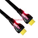 Высокоскоростной нейлон СИД с кабелем раковины 2.0 HDMI металла