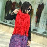 숙녀는 모양 짓는다 2색조 아크릴 뜨개질을 한 마술 판초 숄 스카프 (YKY4623)를