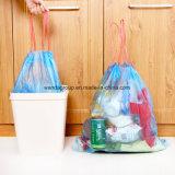 Aceitar o saco de lixo plástico do lixo do pedido feito sob encomenda com Drawstring