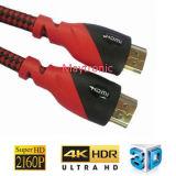 Alta velocità con il cavo doppio delle coperture 2.0 HDMI del PVC di colore