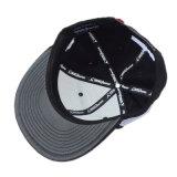 カスタム黒6のパネルの綿の急な回復の帽子の帽子