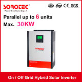 On/Off de la grille de l'onduleur solaire hybride avec stockage d'énergie