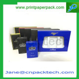Casella impaccante cosmetica del cartone del PVC di regalo dei contenitori del profumo di carta su ordinazione di modo
