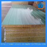 A1レベルの壁または屋根の構築のための耐火性の岩綿サンドイッチパネル