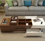 Mesa de café de madeira com suporte de TV, mesa de centro (1485)