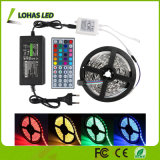 DC12V AC220V Flexible LED Strip Light 60 LED / Mètre 5m / Roll LED Corder Light avec télécommande