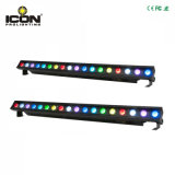 Nueva luz larga de la barra de la colada de 18X3w 3in1 LED para de interior
