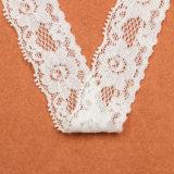 ヨーロッパ様式の優雅な白い花のボーダー刺繍のレース
