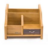 Suporte do armazenamento dos artigos de papelaria do escritório com cor de madeira da gaveta