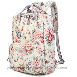 Рюкзак с цветочным рисунком в стиле ретро Canvas сумки модная сумка водонепроницаемый рюкзак плечи сумка для ноутбука Yf-Lb1698
