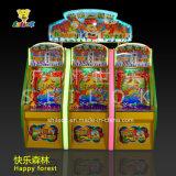 De gelukkige Machine van het Spel van de Arcade van de Afkoop van het Pretpark van het Hout Muntstuk In werking gestelde