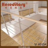 Balustrade à balustrade 304 en acier inoxydable pour la rampe d'escalier (SJ-H1408)