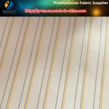 Дешевая белая ткань подкладки втулки в покрашенной пряжей нашивке полиэфира для одежды (S120.124)