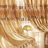 高貴で贅沢な様式の刺繍の停電のカーテンファブリック(19F0052)
