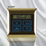 Interrupteur tactile à thermostat d'air dans un cadre métallique (SK-AC2000B)