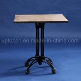 Square Restaurant Table Meubles avec table en bois haut et table de style rétro de la jambe (SP-RT564)