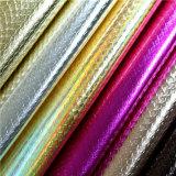 Le gaufrage Snake grain cuir synthétique synthétique pour les chaussures et sacs