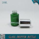 20ml装飾的な液体の本質の血清の点滴器のびんアルミニウム精油のびん