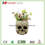 El Cráneo de resina de macetas con morder una rosa para la decoración del hogar y jardín ornamentos
