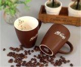 Tazze di ceramica bianche all'ingrosso di marchio di stampa della decalcomania delle tazze di tè