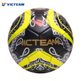 Noir personnalisé ballon de soccer de la vente directe en usine