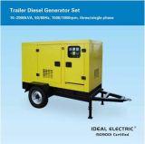 tipo 3-Phase central energética Diesel do reboque de 1500kVA 480V do gerador