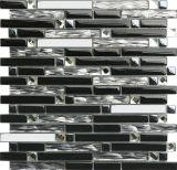 Mosaïque blanche de verre cristal de bande de cuisine pour le mur