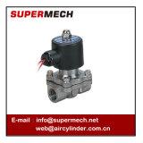 Válvula solenóide pneumática de água em aço inoxidável série 2s