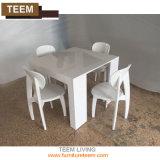 現代ヨーロッパの家具の卸売の純木の長方形の拡張ダイニングテーブル