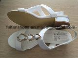 女性のサンダルの偶然靴PUの靴(FFSD-01)